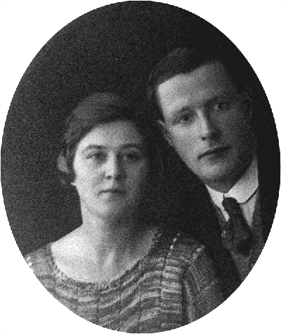Fred Fern and wife in WW1