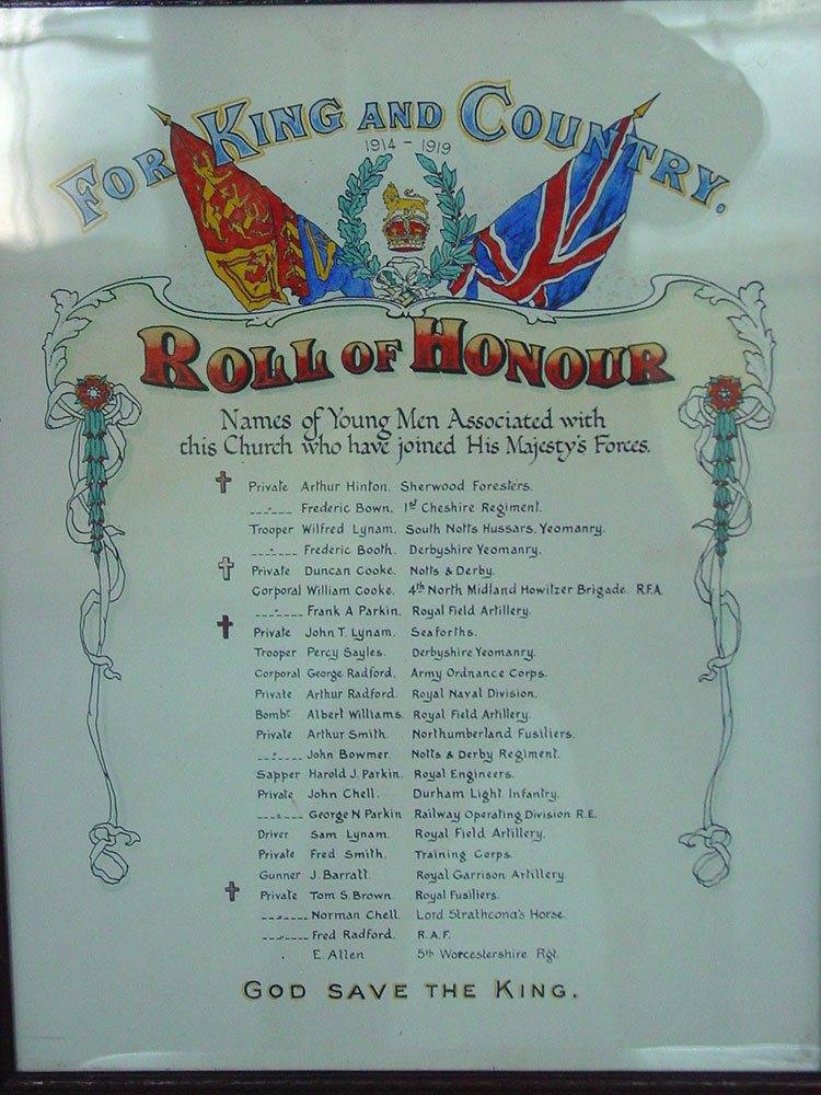 Fritchel Roll of Honour
