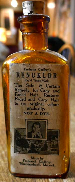 Fred Godrey hair colouring bottle