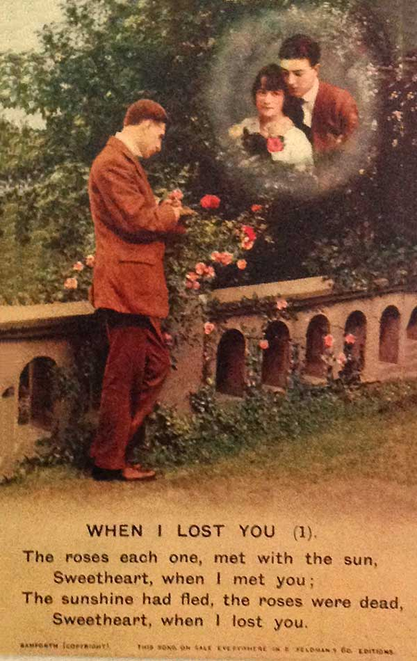When I lost you postcard