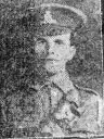 newspaper photograph of John Gough in WW1