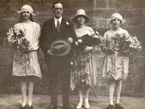 Arthur Harrison wedding in 1929