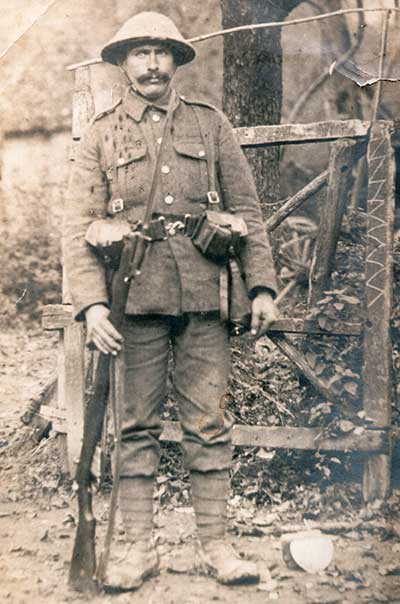 Matthew Hodgkins in WW1