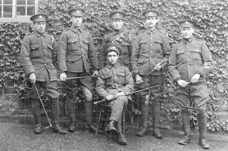 Hernert Wilfred Martin with his army colleagues