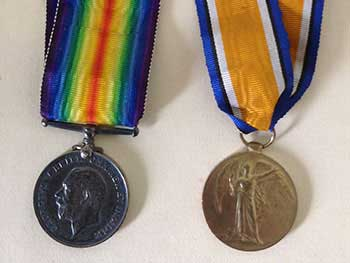 Hector MvLarty's medals in WW1