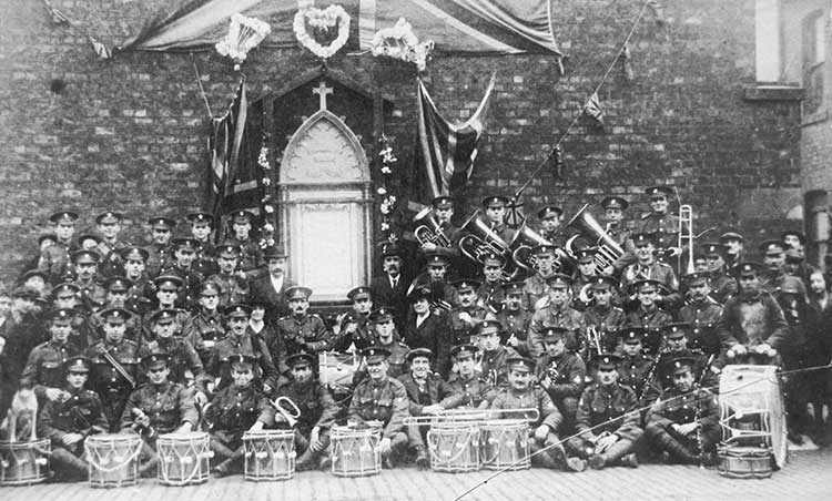 Regimental Band in WW1