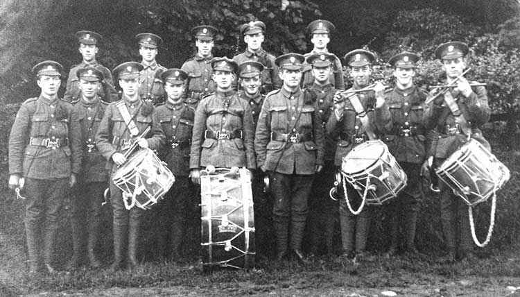 KOYLI Regimantal Band in WW1