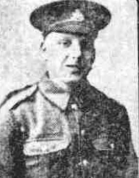 Newspaper photo of Charles Paerry in WW1