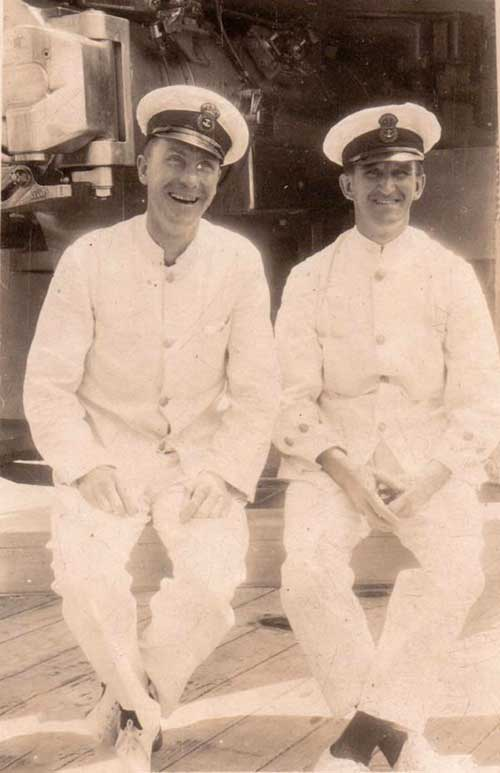 Harry Rodgers Prince with shipmate